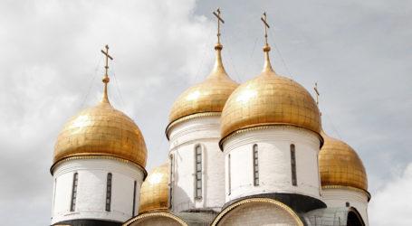 Walking in Moscow's winter wonderland